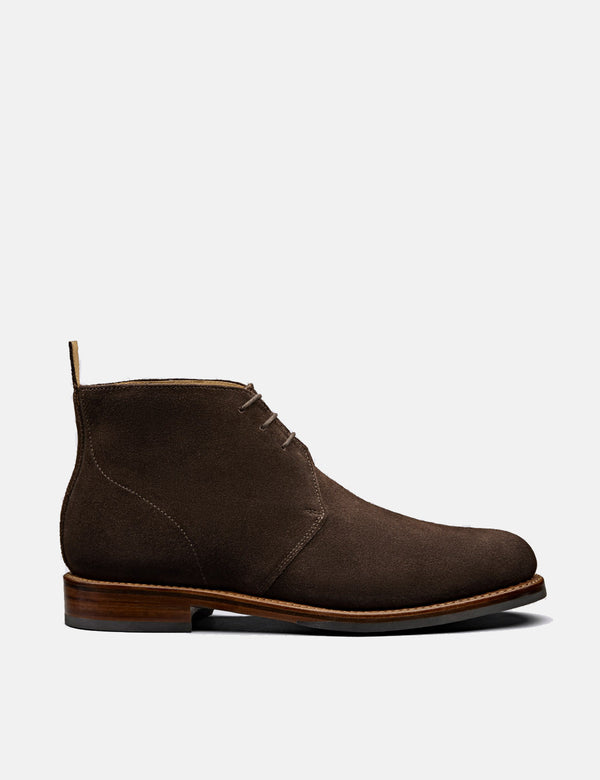 Grenson Wendell Chukka (Suede) - Chocolate Brown
