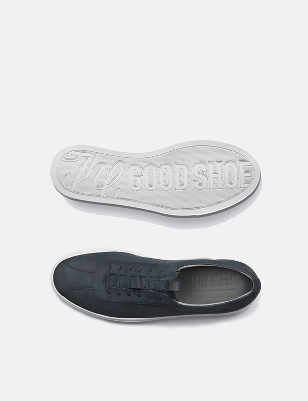 Grenson Sneakers 1 (Nubuck) - Navy Blue
