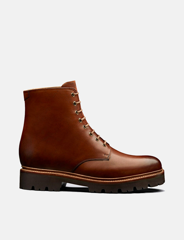 Grenson Hadley Boot (Hand Painted Leather) - Tan