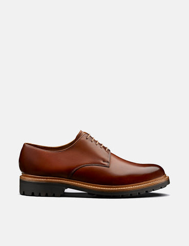 Grenson Curt Derby Shoes (Hand Painted Leather) - Tan