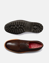 Grenson Curt Derby Shoes - Dark Brown