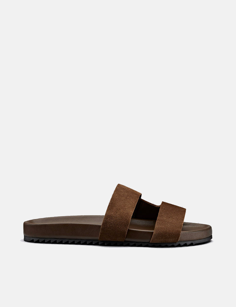 Grenson Chadwick Sandal (Suede) - Cigar Brown