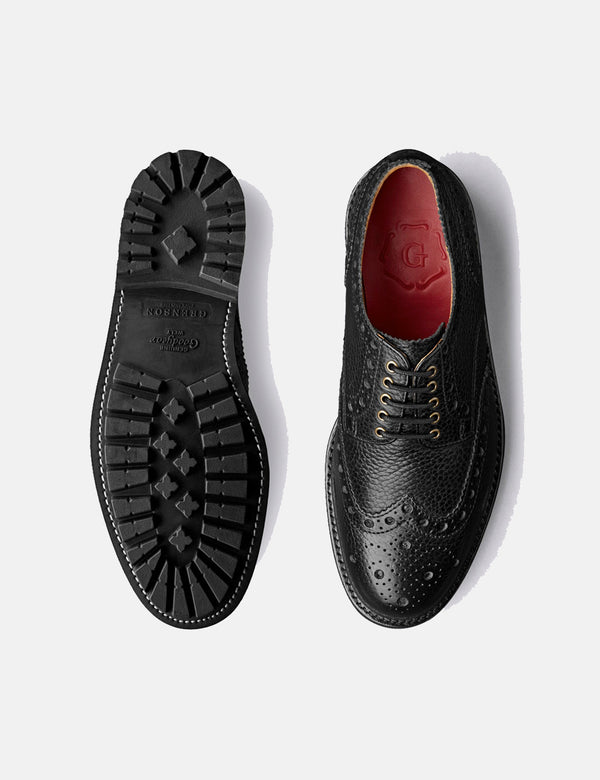 Grenson Archie Brogue (Natural Grain) - Noir