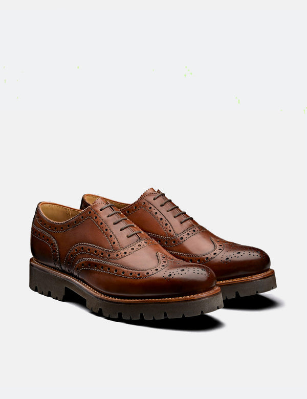 Grenson Stanley Brogue (Handpainted) - Tan