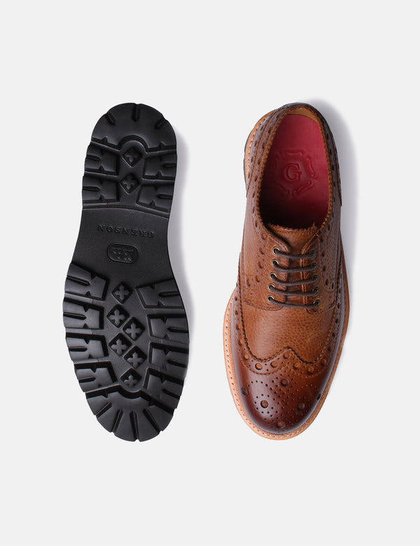 Grenson Archie Brogue (Washed Nubuck) - Walnut