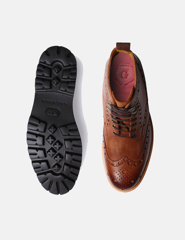 Botte Grenson Fred Brogue - Nubuck Lavé Noyer