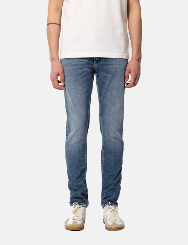 Jean Nudie Lean Dean (Slim Tapered) - Indigo Exile