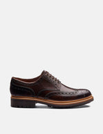 Grenson Archie Brogue Shoes - Dark Brown