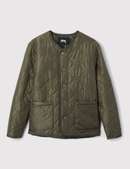 Stussy Quilted Military Jacket - Olive