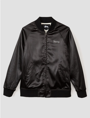 Stussy California Satin Bomber Jacket - Black