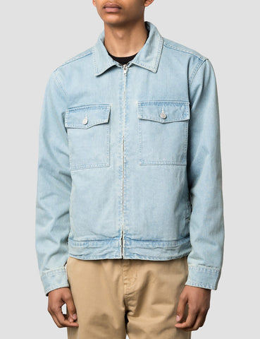Stussy Garage Washed Garage Jacket - Light Blue