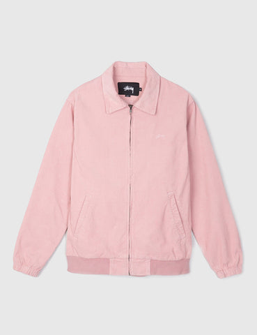 Stussy Bleached Out Cord Jacket - Pink
