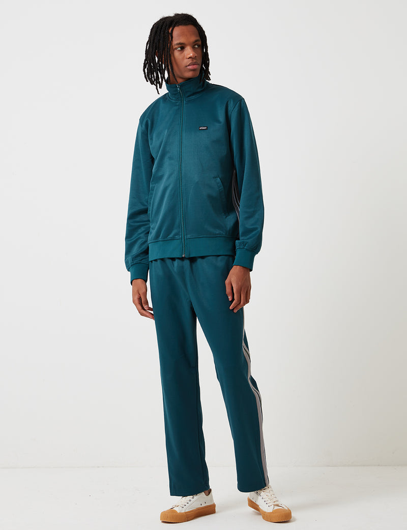 Stussy Textured Rib Track Jacket - Dark Teal