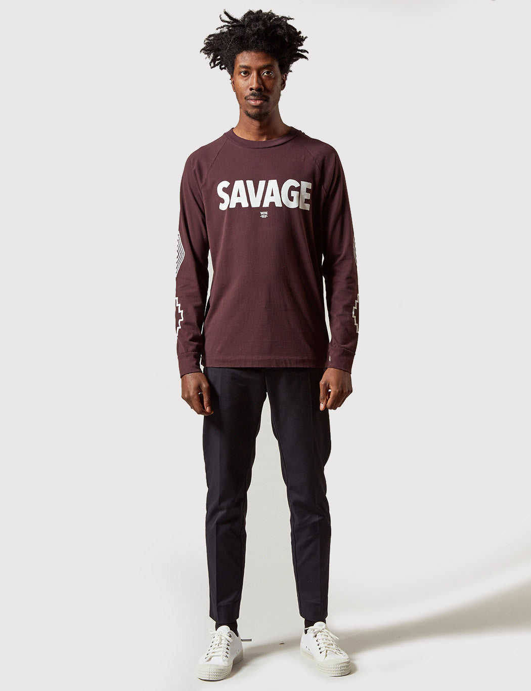 Wood Wood Han Savage Longsleeve T-Shirt - Brown