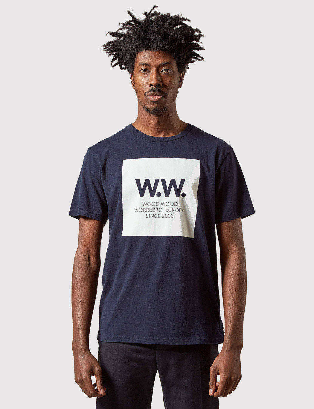 Wood Wood WW Square T-Shirt - Total Eclipse