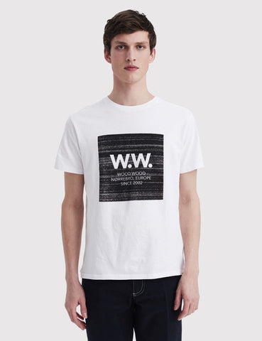 Wood Wood WW Digital Square T-Shirt - White