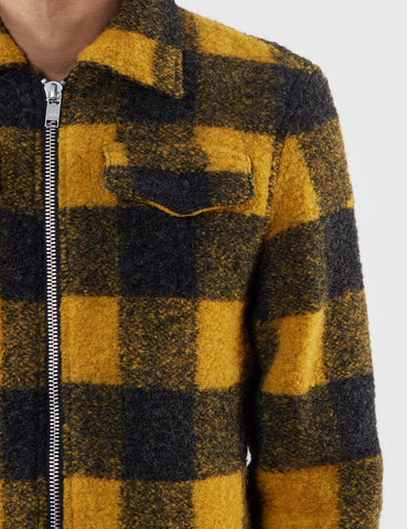 Wood Wood Dale Lumberjack Jacket - Lemon Check
