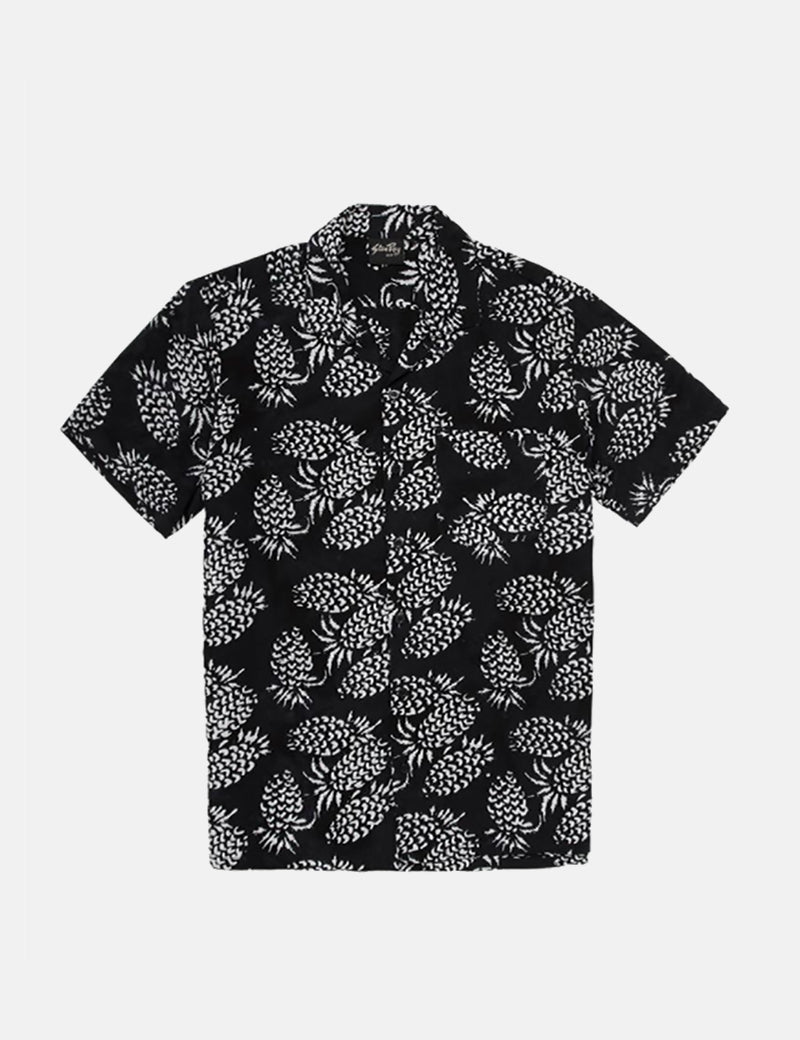 Stan Ray Kelapa Short Sleeve Pineapple Shirt - Black