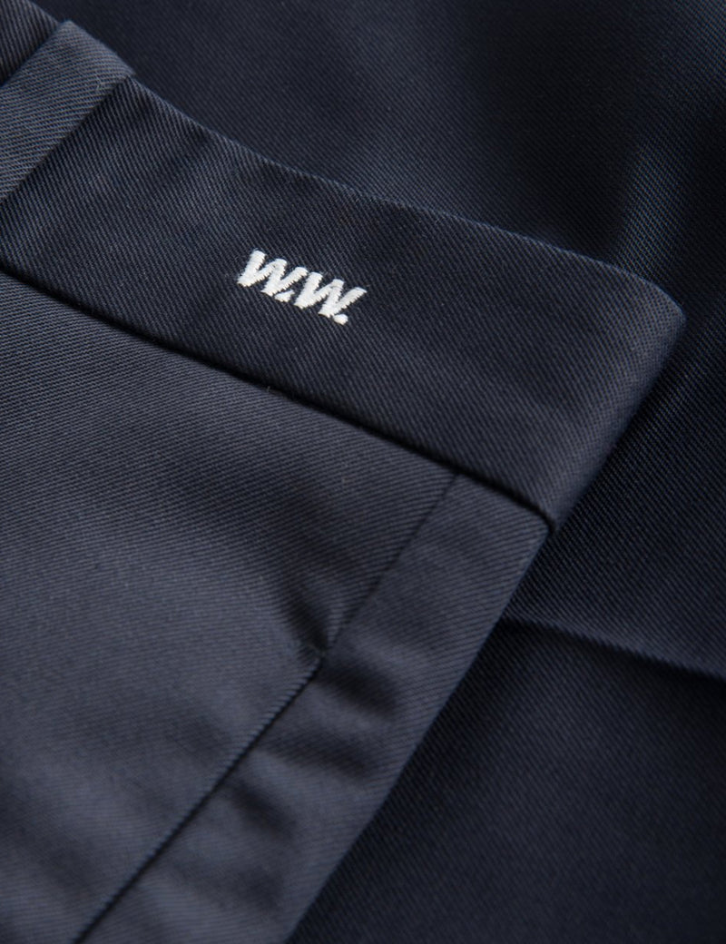 Wood Wood Tristan Trousers - Dark Navy Blue