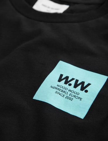 Wood Wood WW Box T-Shirt - Black