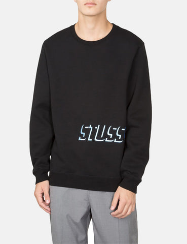 Stussy Shadow Applique Crew Sweatshirt - Black