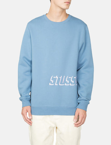 Stussy Shadow Applique Crew Sweatshirt - Steel Grey
