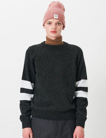 Wood Wood August Sweater - Green Mouline