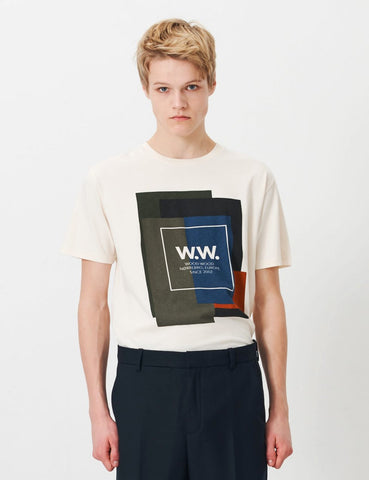 Wood Wood Quilt T-Shirt - Off White