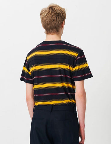Wood Wood Perry T-Shirt - Yellow Stripe