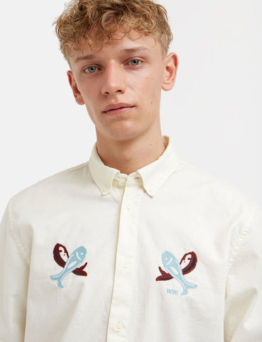Wood Wood Timothy Shirt - Off-White