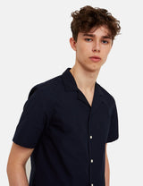 Wood Wood Brandon Shirt - Navy Blue