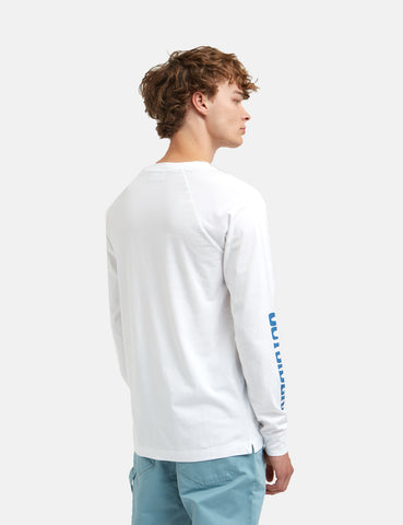 Wood Wood Han Long Sleeve T-Shirt - Bright White