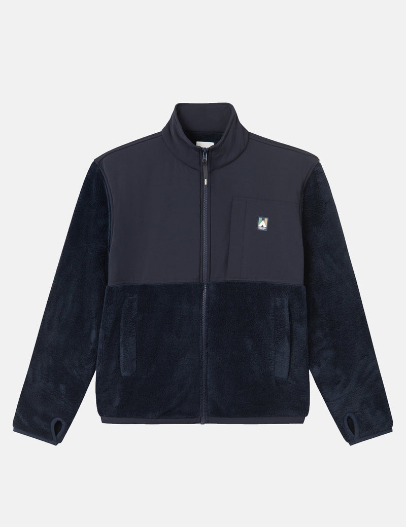 Wood Wood Hannes Fleece Jacket - Navy