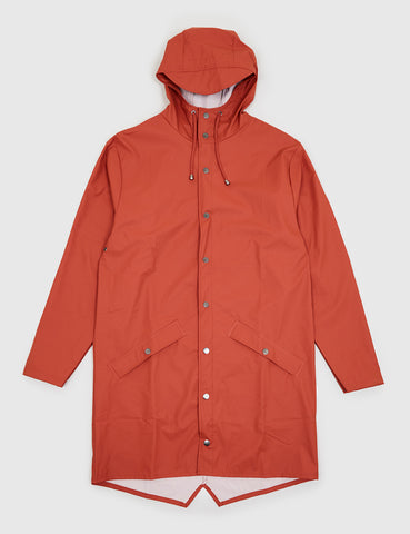 Rains Long Jacket - Rust