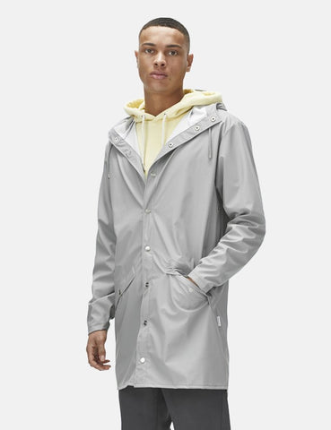 Rains Long Jacket - Stone
