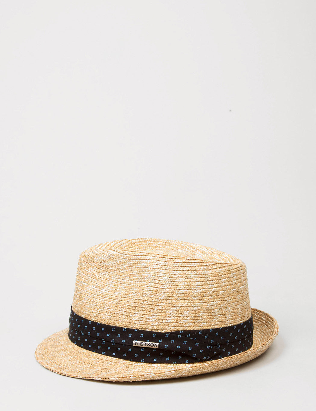Stetson Ralston Wheat Straw Trilby Hat - Natural