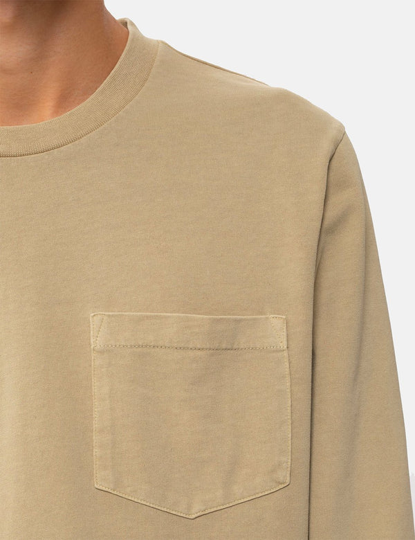 Nudie Rudi Heavy Pocket LS T-Shirt - Hafer
