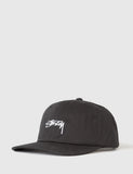 Stussy Smooth Stock Low Cap - Black