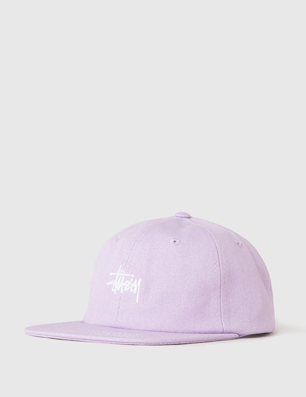 Stussy Smooth Stock Canvas Cap - Lavender
