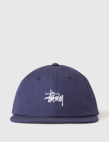 Stussy Smooth Stock Canvas Cap - Navy Blue