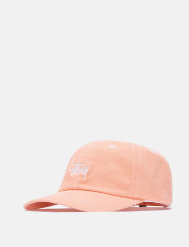 Stussy Washed Stock Low Cap - Orange