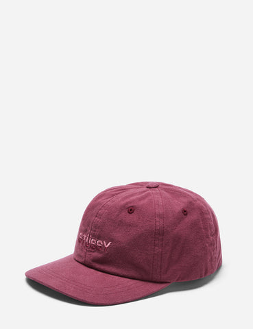 Stussy Two Tone Logo Low Pro Cap - Burgundy