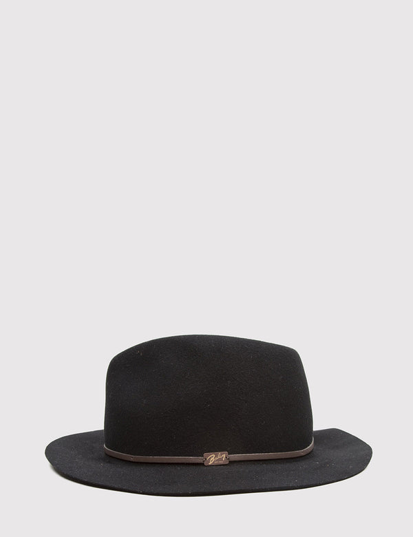 Bailey Jackman Unstructured Fedora Hat - Black