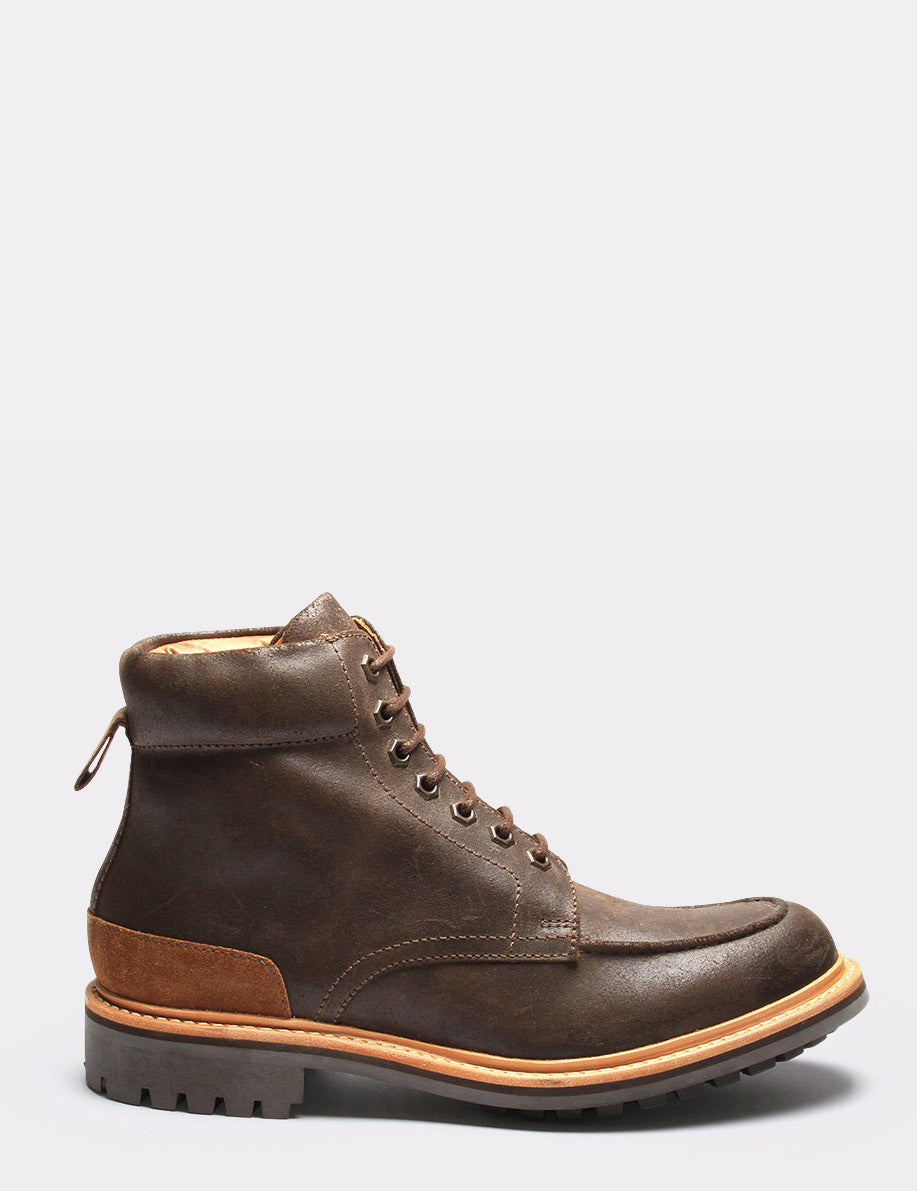 Grenson Otis Suede Boot - Brown Roughout