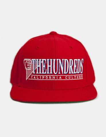 The Hundreds Raidurrs Snapback Cap - Red