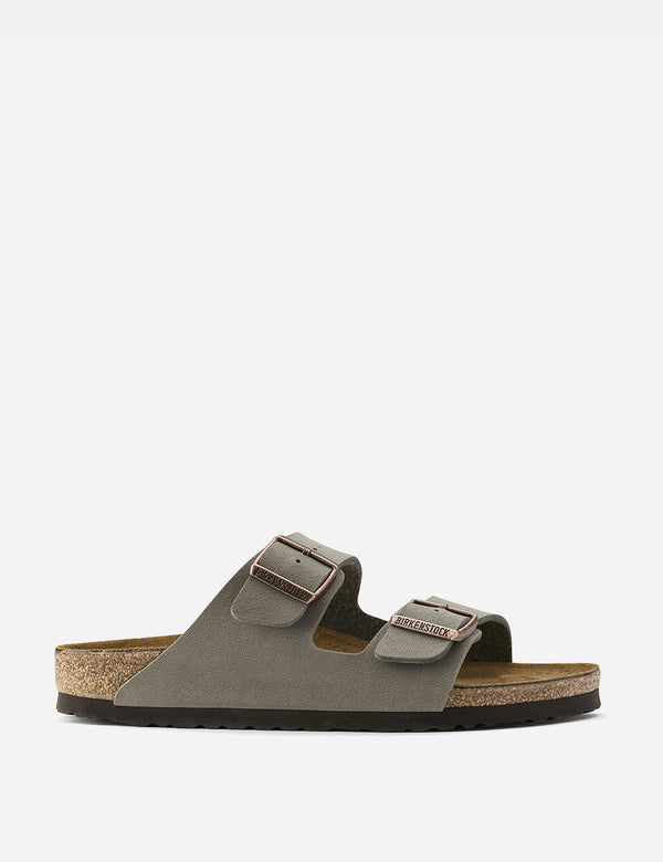 Birkenstock Arizona Sandals Nubuck Leather (Regular) - Stone Grey