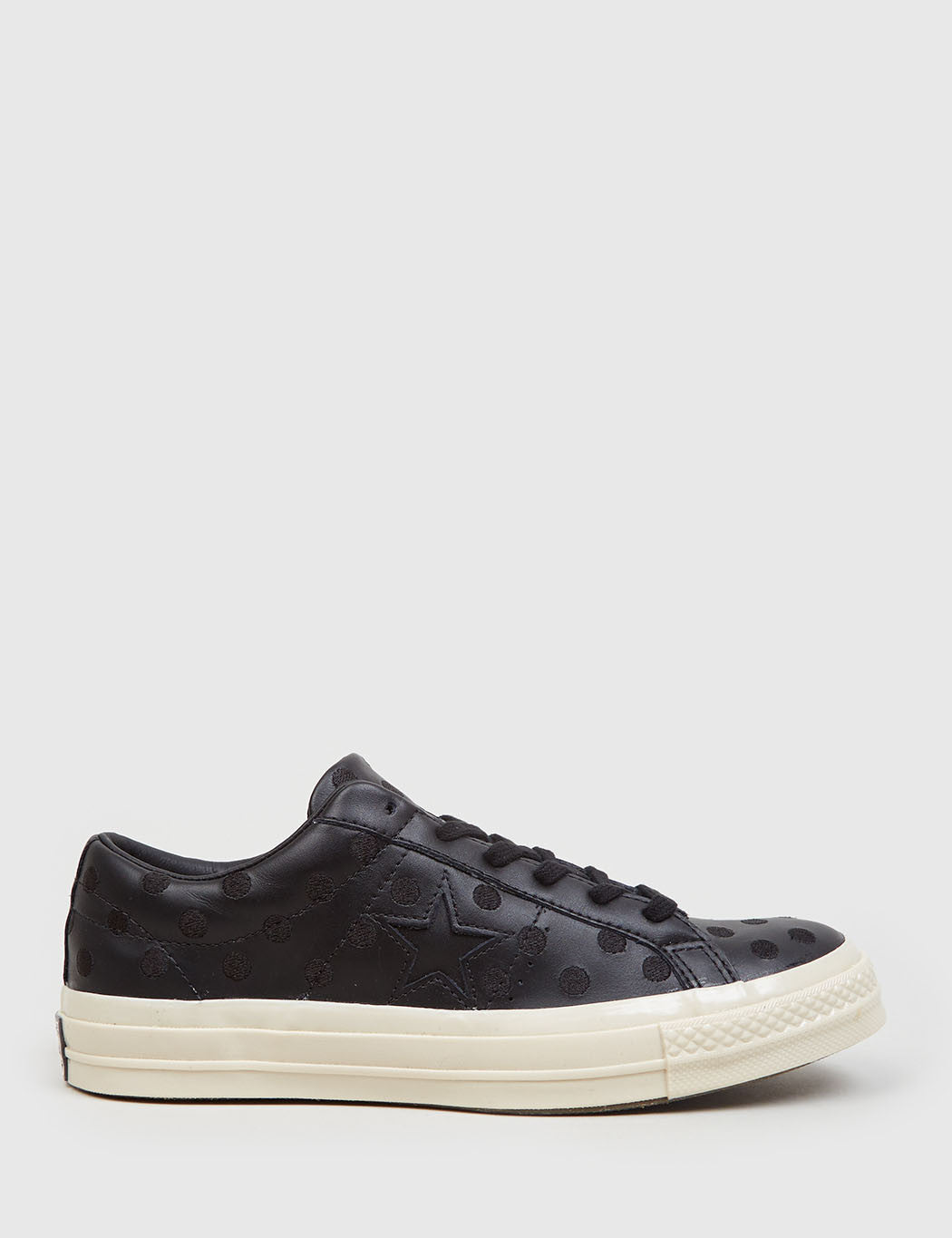 9c5139e46a3b54 Converse One Star  74 (Polkadot Leather) - Black