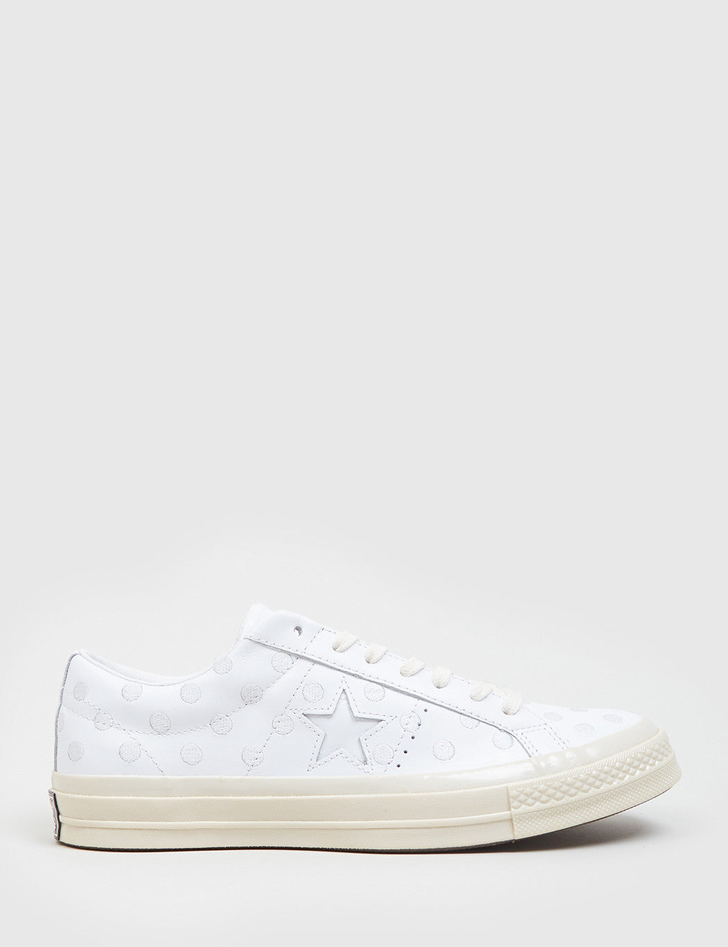 3e92d4f76caf55 Converse Leather One Star  74 (Polkadot Leather) - White ...