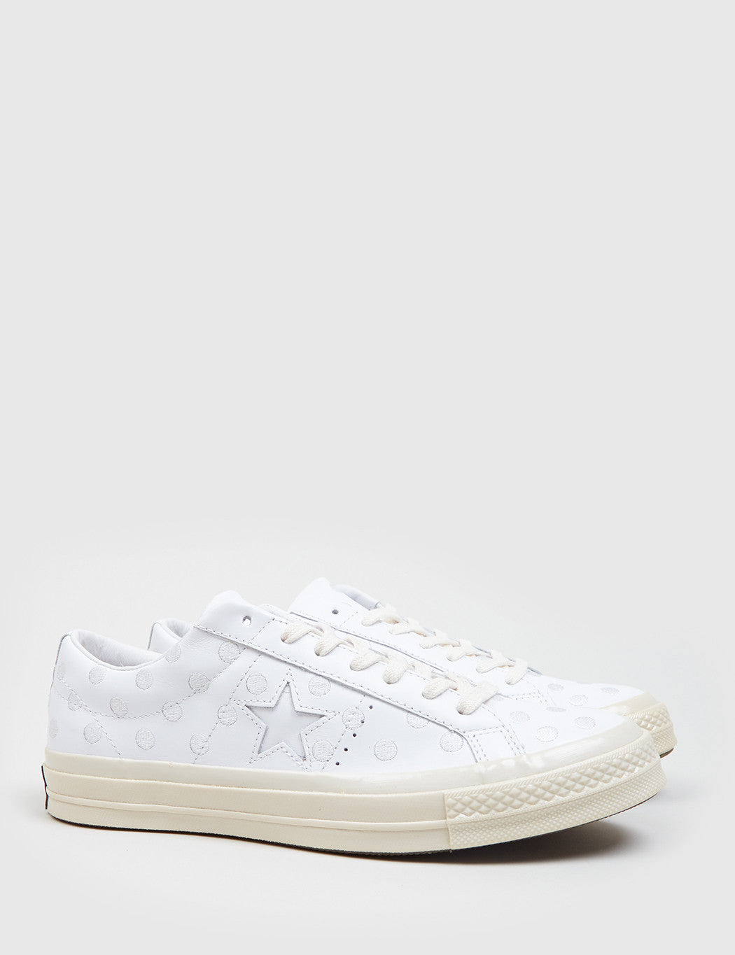 ... best price converse leather one star 74 polkadot leather white d174b  12572 d7d1a8a2a