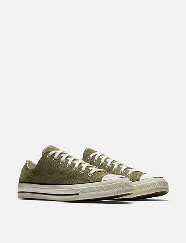 Converse 70's Chuck Taylor Low (Suede) - Medium Olive/Egret
